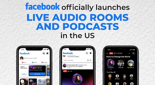 Facebook Officially Launched New Features in US; Live Audio Rooms and Podcasts